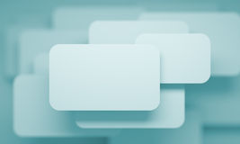 Business Card. 3d Illustration of Abstract Business Card Stock Image