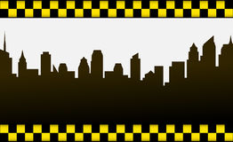 City background and taxi sign Stock Photography