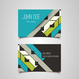 Business Card Design with Abstract Background Royalty Free Stock Photos
