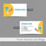 Business card design for an advertising agency Royalty Free Stock Photos