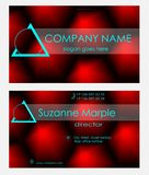 Business card design on dark red, abstract background business card creative approach. Business card design on dark red, abstract background business card Stock Image