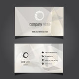 Business card design Royalty Free Stock Images