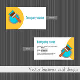 Business card design for  home repair set template Royalty Free Stock Photos