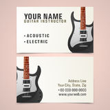 Business card design for music instructor. Stock Photography