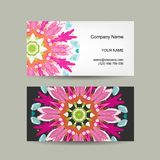 Business card design. Ornate background Stock Photography
