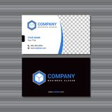Business Card Design With Personal Photo for Advertisement and Square Logo. Business Card Design With Personal Photo for Advertisement and Square Company Logo royalty free illustration