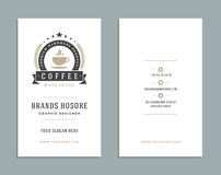 Business Card Design and Retro Logo Template. Vector Design Element Vintage Style for Logotype Stock Image