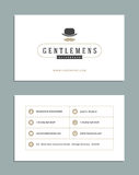 Business Card Design and Retro Logo Template. Vector Design Element Vintage Style for Logotype vector illustration