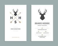 Business Card Design and Retro Logo Template. Vector Design Element Vintage Style for Logotype. Label, Badge, Emblem. Logo Symbol, Retro Logo, Business Card Stock Image