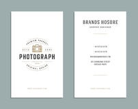 Business Card Design and Retro Logo Template. Vector Design Element Vintage Style for Logotype Royalty Free Stock Image