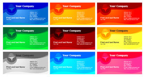 Business card design set Royalty Free Stock Image
