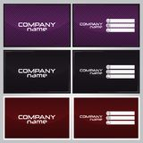 Business card design Royalty Free Stock Photo