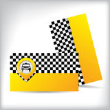 Business card design for taxi companies Royalty Free Stock Image