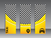 Business card design for taxi companies Royalty Free Stock Photos