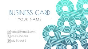 Business card design templated. Trendy design templated. Minimalistic elegant layout. Place for text. Gradient pattern. Business card design templated. Trendy royalty free illustration