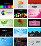 Business card designs. Large collection of various business card designs Royalty Free Stock Photography