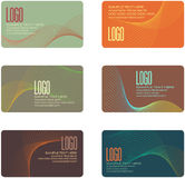 Business Card Designs. Set of 6 Business Card Designs in Various Colors Royalty Free Stock Photography