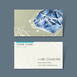 Business card with diamond element Royalty Free Stock Image