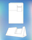 Business card display Box. Box with blueprint Royalty Free Stock Photos
