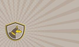 Business Card Doberman Pinscher Head Shield Retro Royalty Free Stock Photo