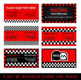Business card driver race - fifth set. Vector illustration eps10 Royalty Free Stock Image