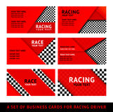 Business card driver race - second set Royalty Free Stock Image
