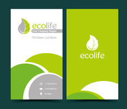 Business Card for employee Ecological Services Stock Photo