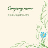Business card with floral ornament in Indian style Stock Photo