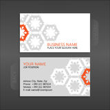 Business card. Floral. Business card template. With stylized floral ornament Stock Image