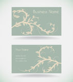 Business card with floral. Royalty Free Stock Images
