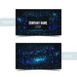 Business card front and back with abstract cosmic Royalty Free Stock Image