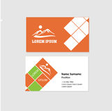 Business Card Front and Back Design Royalty Free Stock Photo