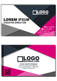 Business card front and back vector illustration