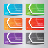Business card full color modern bussines card Stock Image