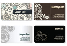 Business card, gear design Royalty Free Stock Photos