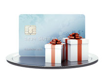 Business card with gifts Royalty Free Stock Photo
