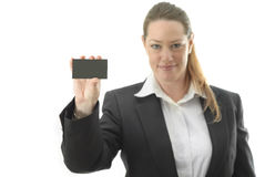 Business card girl Royalty Free Stock Images