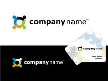 Business card graphic logo. Graphics for a business card and abstract logo Royalty Free Stock Image
