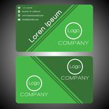 Business card on green background 0003. Business card on gree background, suitable for your ID card and easy to editable on eps file. thank Royalty Free Stock Image