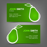 Business card green pear Royalty Free Stock Photos