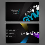 Business card for the gym and fitness Royalty Free Stock Photo