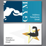 Business card for gym and fitness Royalty Free Stock Photo