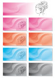 Business card hair stylist Royalty Free Stock Image