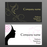 Business card for hairdressers Royalty Free Stock Photo