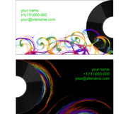 Business card with half vinyl Royalty Free Stock Image