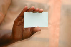 Business card hand Stock Photos