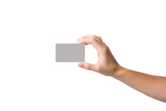 Business card in hand Royalty Free Stock Image
