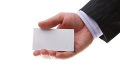 Business card stock image