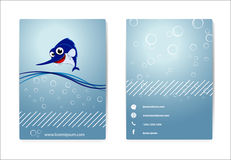 Business card . with happy marlin Royalty Free Stock Photos