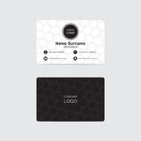 Business card hexagons background Royalty Free Stock Photo